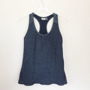 Athleta Racerback Gray Royal Pigeon Tank Top